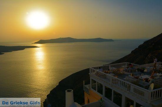 Zonsondergang in Fira Santorini